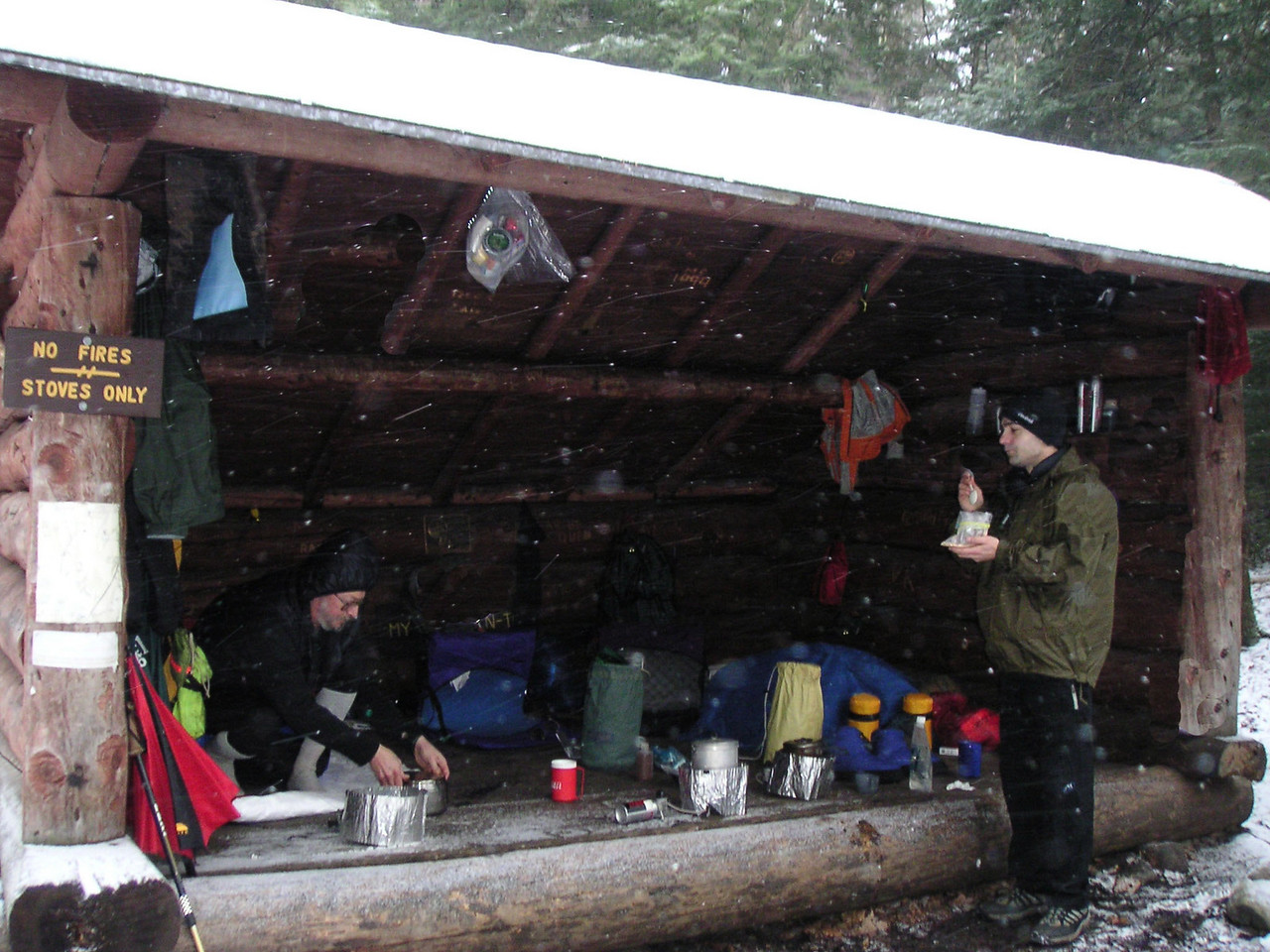 There is nothing like a lean-to in winter!