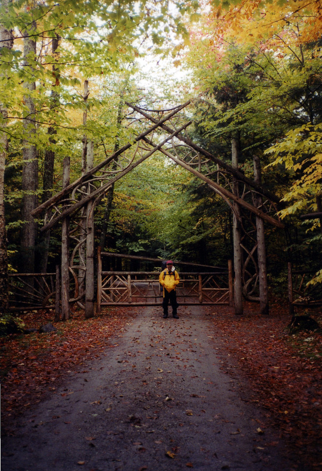 This is the entrance to the Ausable Club's lake road