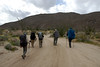 We had a rain forecast on our first day but we started the hike with no rain.