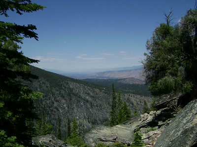 Looking back up the Bitterroot Valley towards Missoula.