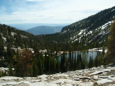 Looking back down on Middle Lake.