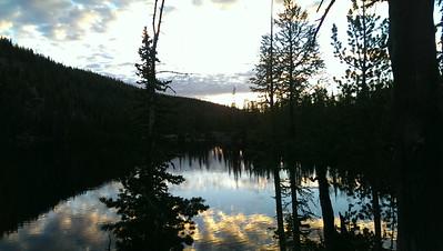 Sunrise on Baker Lake.
