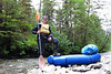 Ready to Float<br /> It's a joyous thing to run a wild river out to sea, I can't quite explain it.  Fish Bay Creek was plenty big enough to float, although frequent logjams took their time to traverse.