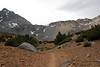 this is the trail leading to Bishop Pass