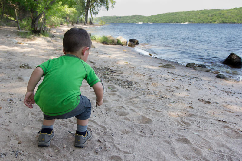 First stop, the beach on the St. Croix.