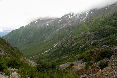 View towards Dyea Chilkoot Trail Sheep Camp to Summit