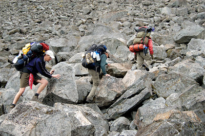 Misc Hikers on Golden Staircase Chilkoot Trail Sheep Camp to Summit