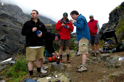 Misc Hikers at Scales Chilkoot Trail Sheep Camp to Summit