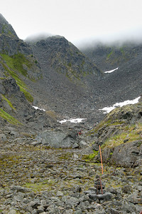 View of Golden Staircase from Scales Chilkoot Trail Sheep Camp to Summit