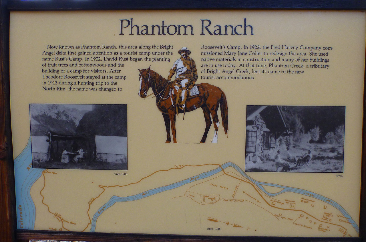 Sign for historic Phantom Ranch
