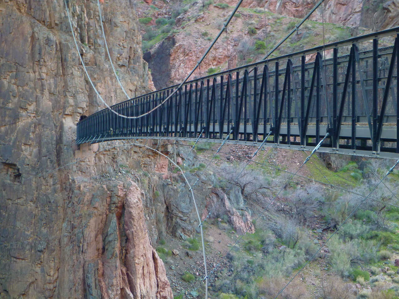 Day 6 - Hiking back to the South Rim via the South Kaibab Trail. The Black Bridge.