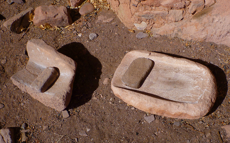 Day 4 - Metates at junction where left fork goes to Cheyava Falls.