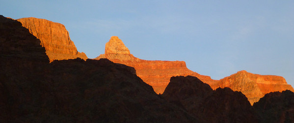 Day 1 - It is near sundown when Rena and I reach to bottom of the canyon.