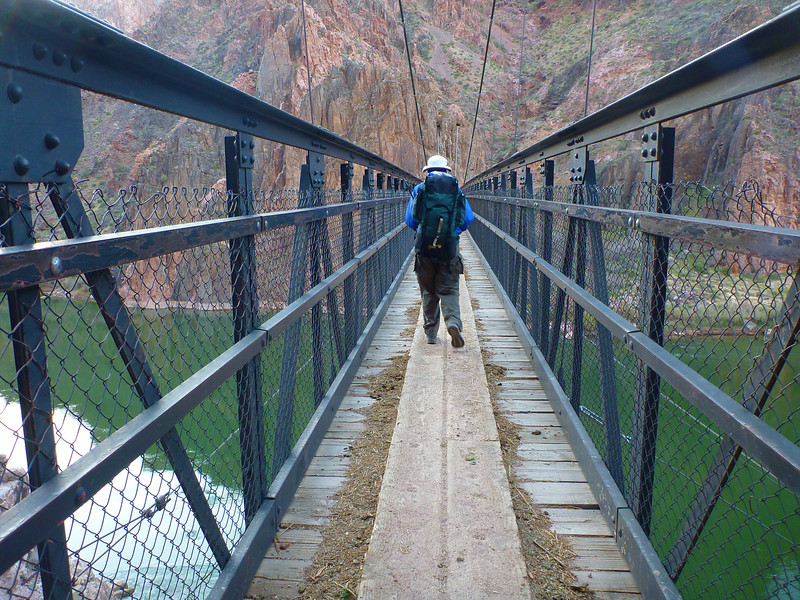Day 6 - Hiking back to the South Rim via the South Kaibab Trail. The Black Bridge.