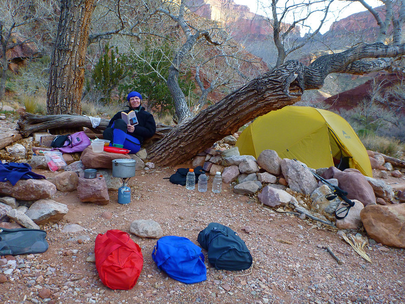 Day 4 - Evening at our Clear Creek Camp