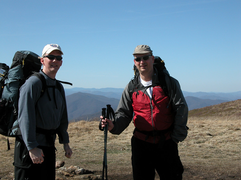 John and Steve on the summit of Black Balsam Knob
