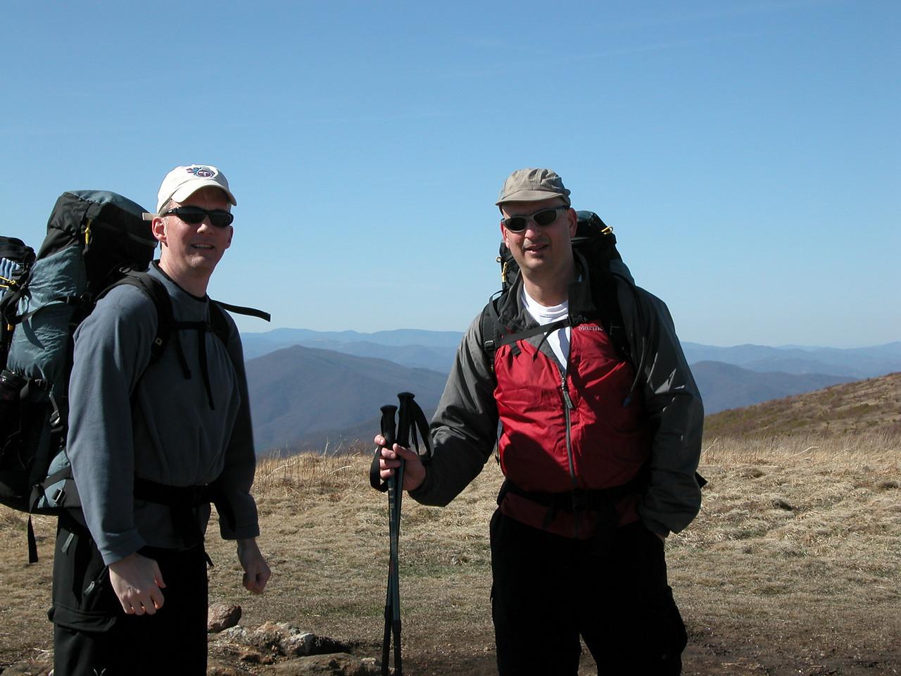 John and Steve on the summit of Black Balsam Knob