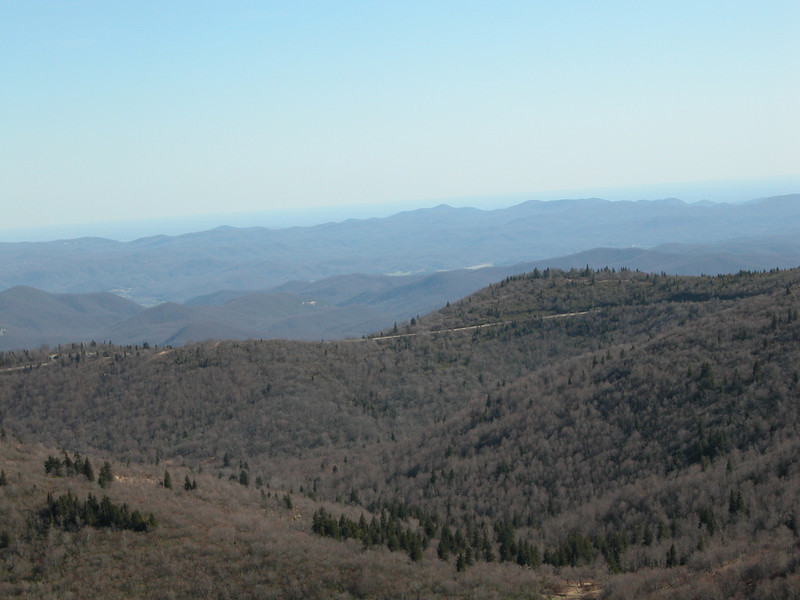 Parkway from Tennent Mtn. part of failed attempt at producing a pano