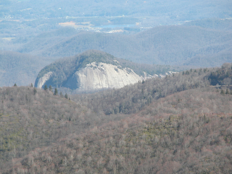 View of Looking Glass Rock from the summit of Tennent Mtn.
