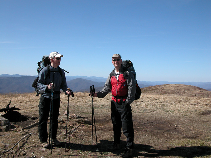 John and Steve on Black Balsam Knob summit