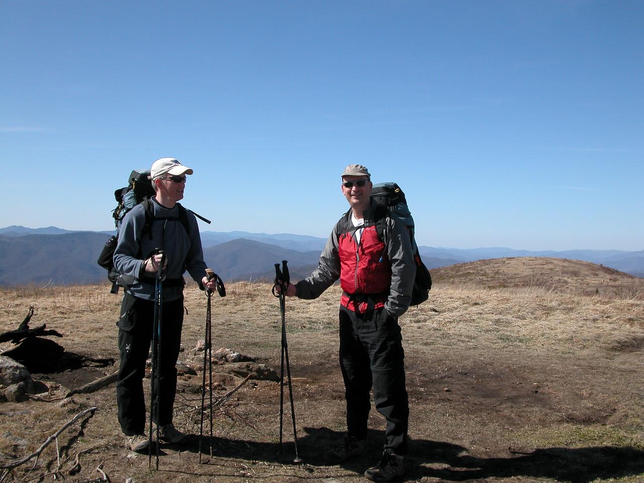 John and Steve on Black Balsam Knob summit