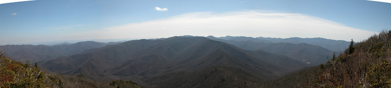 Panoramic view looking south from the Cold Mountain summit