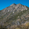 Cone Peak Trail goes along the side of ridge.