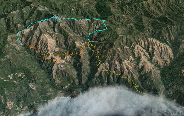 Three days, ~25 miles, and lots of climbing and descending!