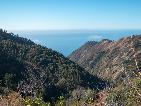 Looking down Hare Canyon towards the Pacific