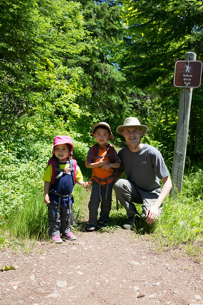 Photo before starting the backpacking trip. 2.5 miles to our campsite from the parking lot.