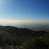 Distorted panoramic view of the LA basin viewed from Mt. Lowe.