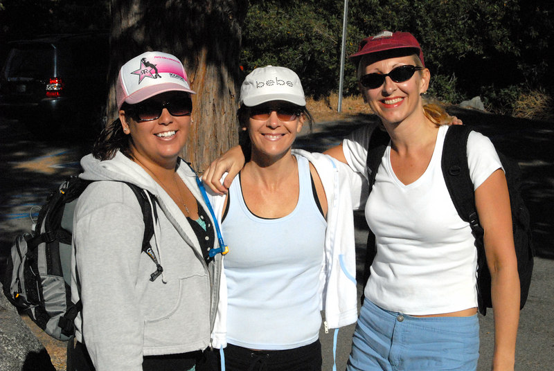 Jennifer, Jena and Angie get ready to tackle Icehouse Canyon.