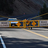 Please explain why this gate in closed!  I called the Forest Service to make sure I could get to Dawson Saddle for our hike and they assured me it was OPEN!  Wrong!  This guy coming out the gate said it was now closed for the winter.  Bummer!  This basically seals off the trails coming off the ACH until they fix the fire damage from the Station fire.  Looks like next year sometime!  WOW!