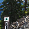 "PCT mile marker ""1"" on the BP trail"