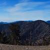 Top of Mt. Baden-Powell (9,399 ft.)  Seen in the distance (right to left) - Mt. Lewis, Throop Peak, Mt. Hawkins, Middle Hawkins, Sadie Hawkins and South Hawkins.