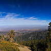 Approaching the top of Mt. Baden-Powell.  It was a wonderful day to hike in the San Gabriel Mountains! (Panoramic view looking towards Landcaster/Palmdale)