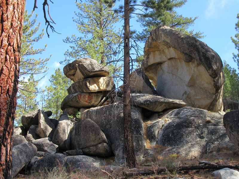... past numerous rock formations ...