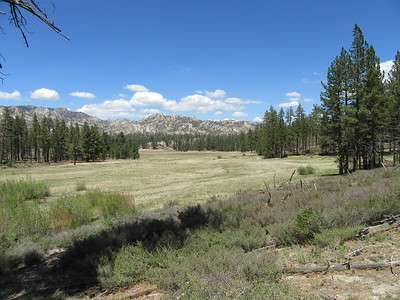 Manter Meadow kept looking better and better as I hiked around to the east side where ...