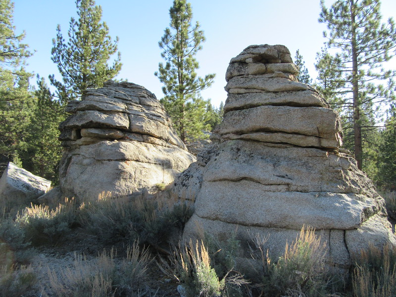 ... interesting rock formations near camp.