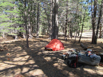 ... I arrived at the start of the Manter Trail (7000').  I made camp here for three nights by ...