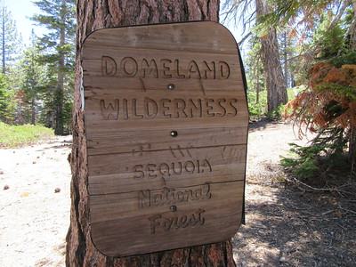 ... the Domeland Wilderness boundary on the ridge (8280').