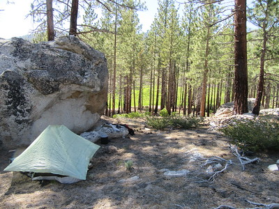 I camped four nights near the north end of Manter Meadow (7200').