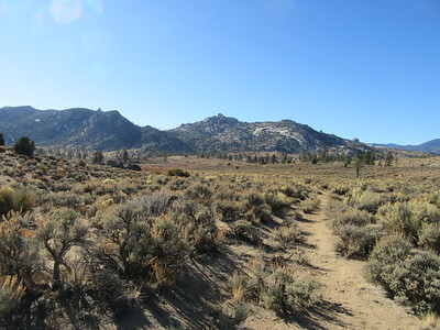 ... before I took this spur trail off the PCT down into Rockhouse Basin where ...