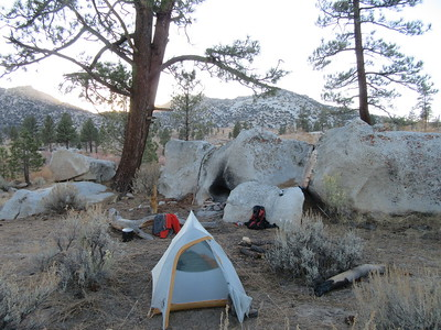 ... I made camp for two nights near South Fork Kern River (5,705').