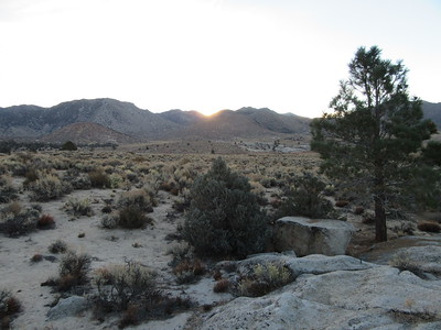 The next morning the sun rose over the mountains to the east of the basin and I hiked back up the spur trail a short distance to ...