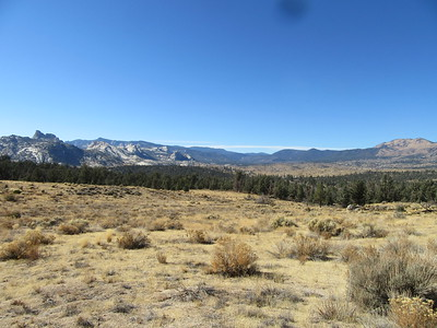 A view west from the PCT where the Domeland area started to appear on the left.