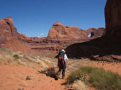 After Crack-in-the-Wall, the path leads down to Coyote Gulch.