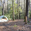 Our campsite for the night, next to Bad Creek and the Chattooga River, Scott named this site Bad Creek Junction.