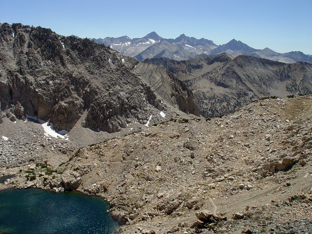 Looking south from Glen Pass