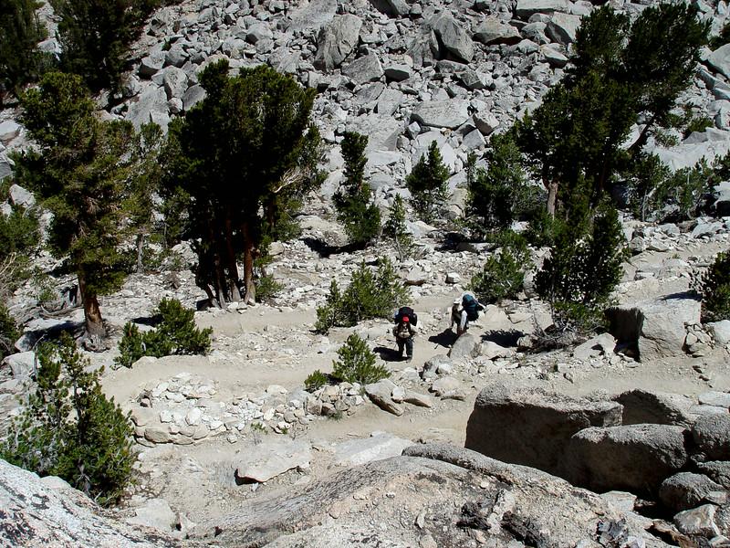 Kearsarge Pass Trail switchbacks